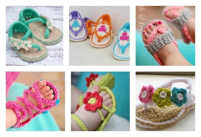 These little Crochet Baby Flip Flop Sandals are the perfect summer accessories for those little feet. Check out the crochet patterns below.