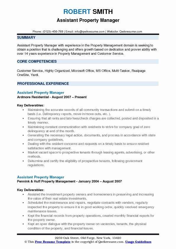 Assistant Manager Job Description Resume Inspirational Assistant Property Manager Resume Samples Resume Examples Job Resume Examples Job Resume Samples