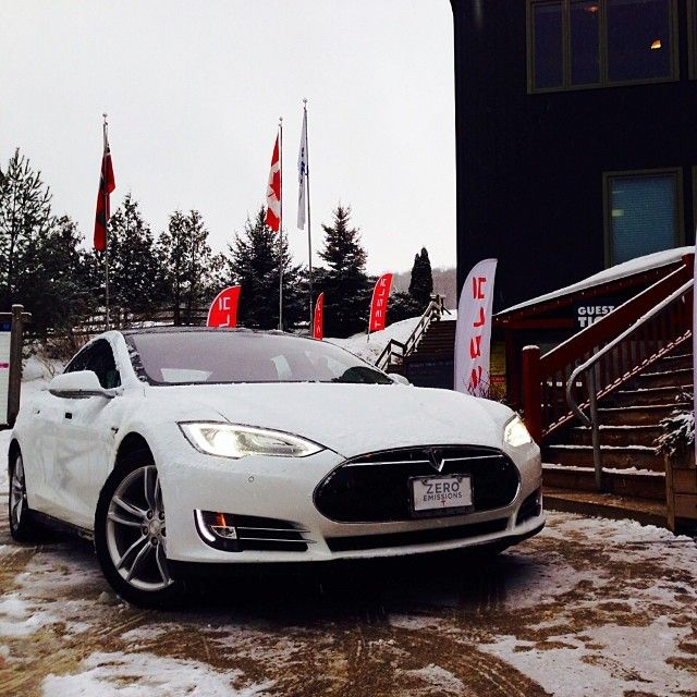 Great event today at Beaver Valley Ski Club where fans could drive #ModelS! Check out our upcoming events in the US and Europe at teslamotors.com/events #cars #tesla #vehicles #sportscar #TagsForLikes #driver
