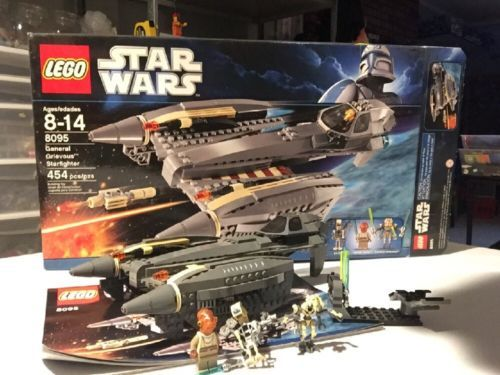Lego Star Wars 8095 General Grievous' Starfighter 100% Complete With Minifigures