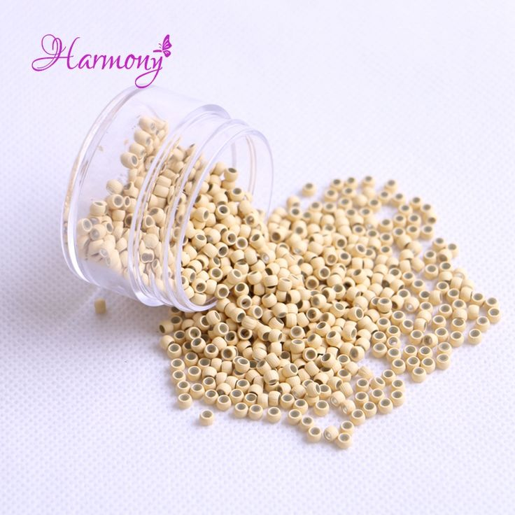 500pcs Blonde Color 2.9x1.6x2.0mm Nano Copper Silicone Micro Links Nano Rings Beads Hair Extension Tools for Nano Hair Extension