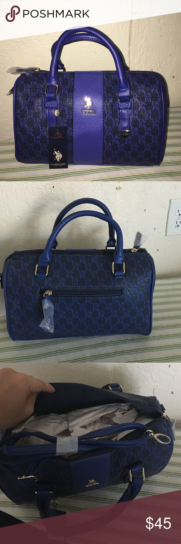 U.S Polo Assn blue handbag Reposhing.. Got from a wonderful posher but didn't had a chance to use it. Medium size brand new comes with crossbody strap. Leather. U.S. Polo Assn. Bags Satchels