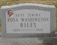 """"""" Aunt Jemima """" Rosa, Washington Riles - 1901- 1969 = Brown Co, Ohio"""