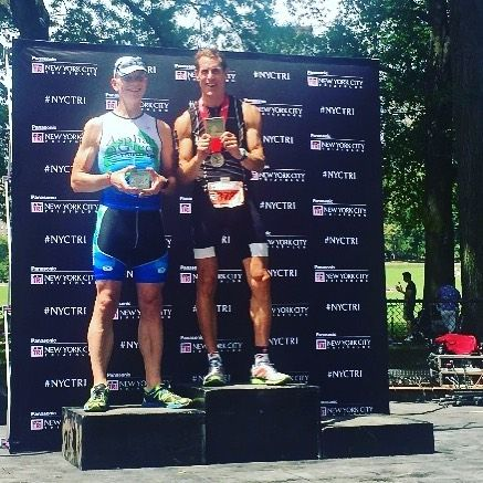 While I was asleep. Husband took second place. NYC triathlon. 2:05:25
