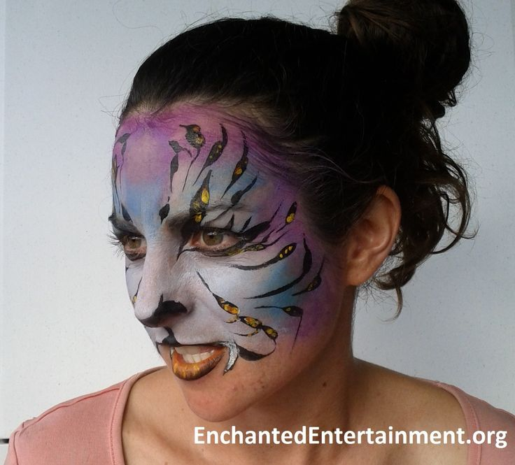 Tropical Tiger! Face painting by EnchantedEntertainment.org  Character Parties, Face Painting & Entertainment for Children  Northern NSW & Gold Coast, Australia