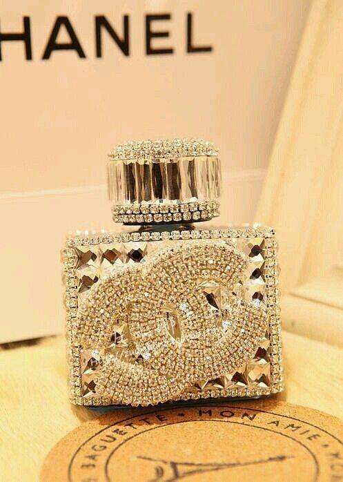 Chanel perfume bottle.