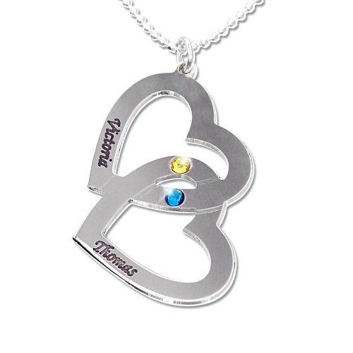 925er Silber Herzkette mit Swarovski Kristall für nur 39.90