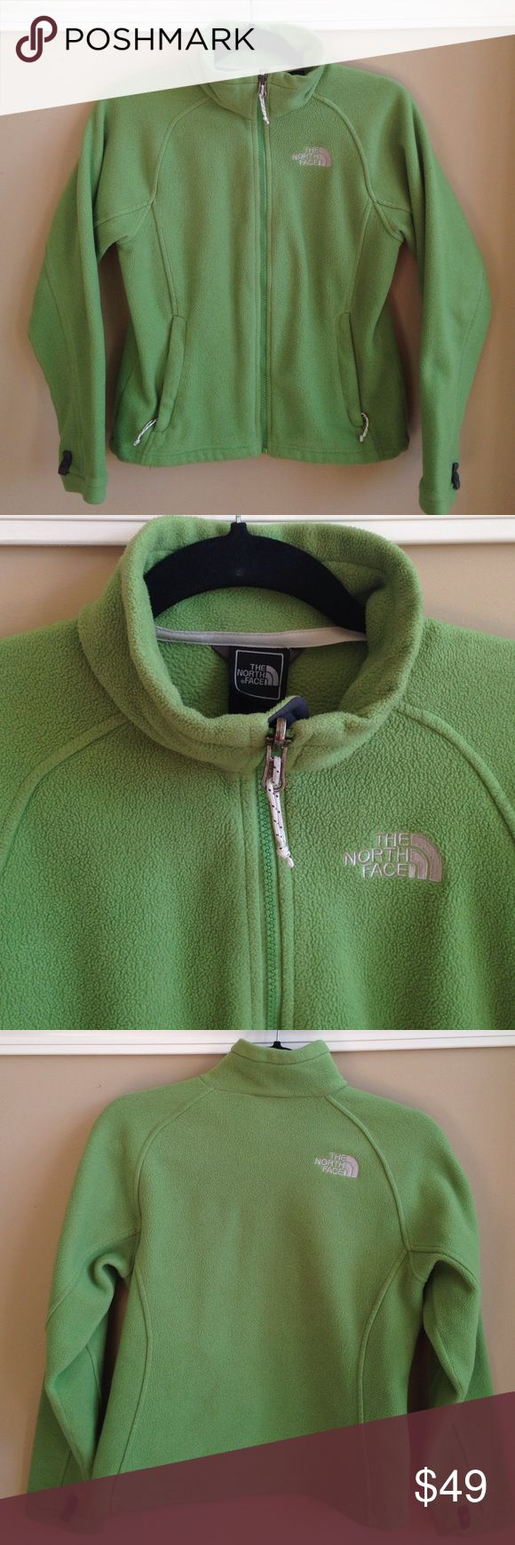 The North Face Green Zip Up Fleece Coat. Size XS. Women's North Face Green Zip Up Fleece Jacket. Size XS. Very good, pre-owned condition. The North Face Jackets & Coats
