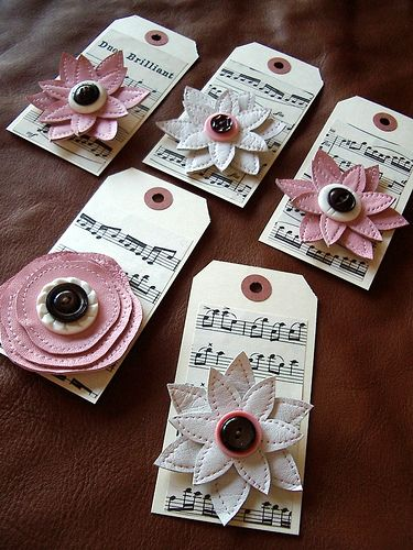 vinyl or could use leather, felt flower buttons