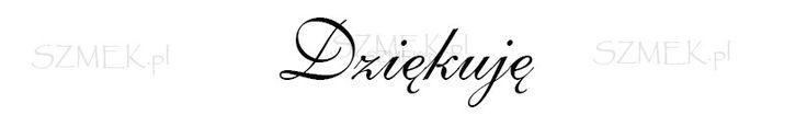 "Stempel gumowy ""Dziękuję"" 44 Scrapbooking sklep SZMEK.pl Stemple z NAPISAMI"