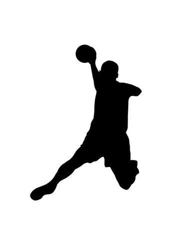 Silhouette of handball player | Handball, Handball players ...