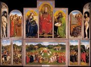 The Ghent Altarpiece (wings open) 1432  by Jan Van Eyck