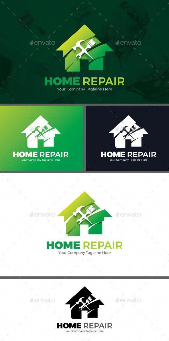 Home Repair Symbols Logo Templates Homerepair Home Repair Handyman Logo Logo Design Template