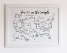 lds temple map – Etsy