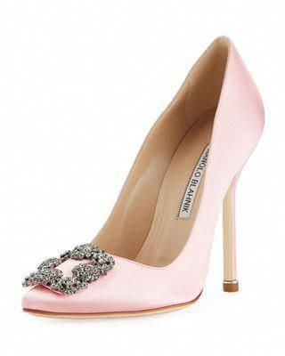 7e7a50a76e9 Manolo Blahnik Hangisi 115mm Satin Crystal-Toe Pump  ManoloBlahnik   ManoloblahnikHeels