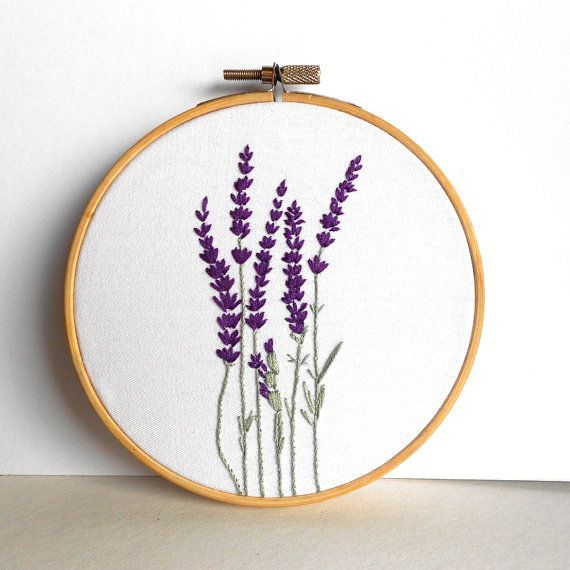 Flower Embroidery Hoop Art Floral Wall Art by RedWorkStitches