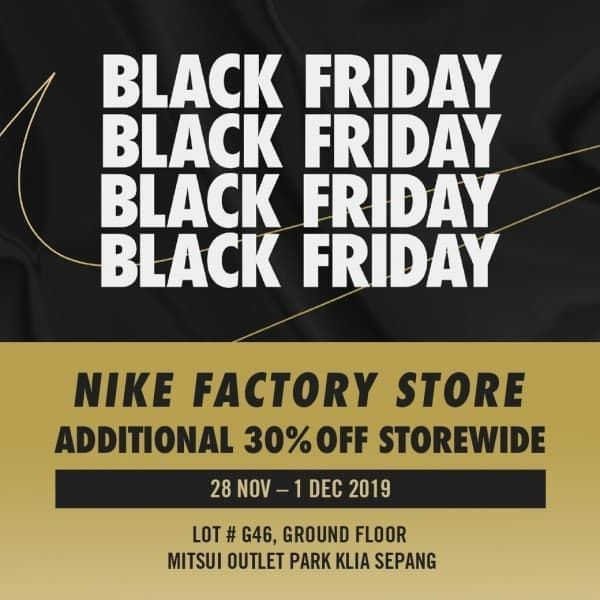 28 Nov-1 Dec 2019: Nike Black Friday