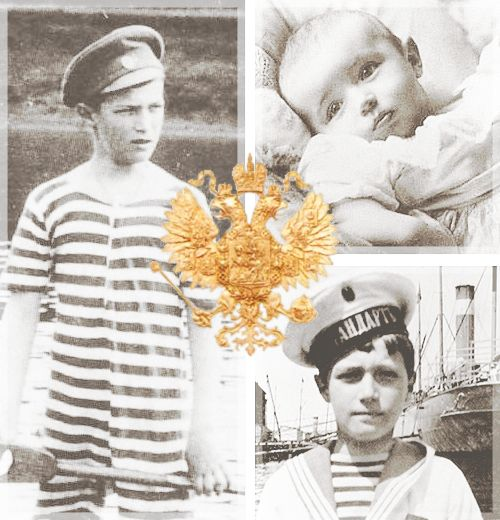 """Romanov Birthdays → Tsarevich Alexei Nikolaevich of Russia, August 12 """" While Russia was at war with Japan, Alexei was born in Peterhof, Russian Empire, on 12 August 1904. He was the youngest of five children and the only son born to Emperor Nicholas..."""