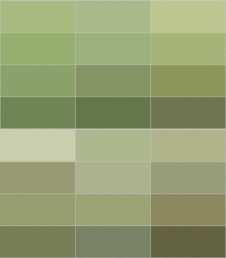 olive green wall color. Mom always loved green on walls.