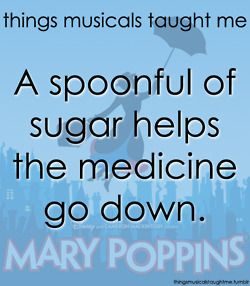 "Things musicals taught me (Mary Poppins)      ""A spoonful of scriptures helps the medicine go down""?"