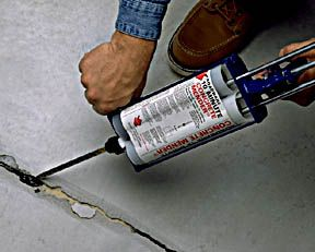 tutorial to fill and patch holes and cracks in concrete floor