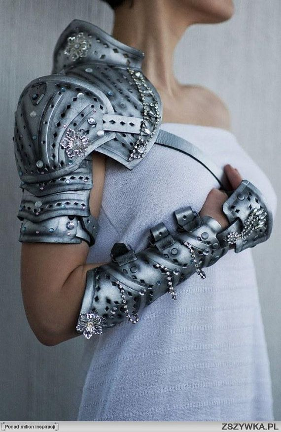 Natural leather dark silver armor von pinkabsinth…