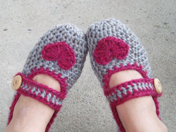 Crochet Slippers for Women - Light Brown with
