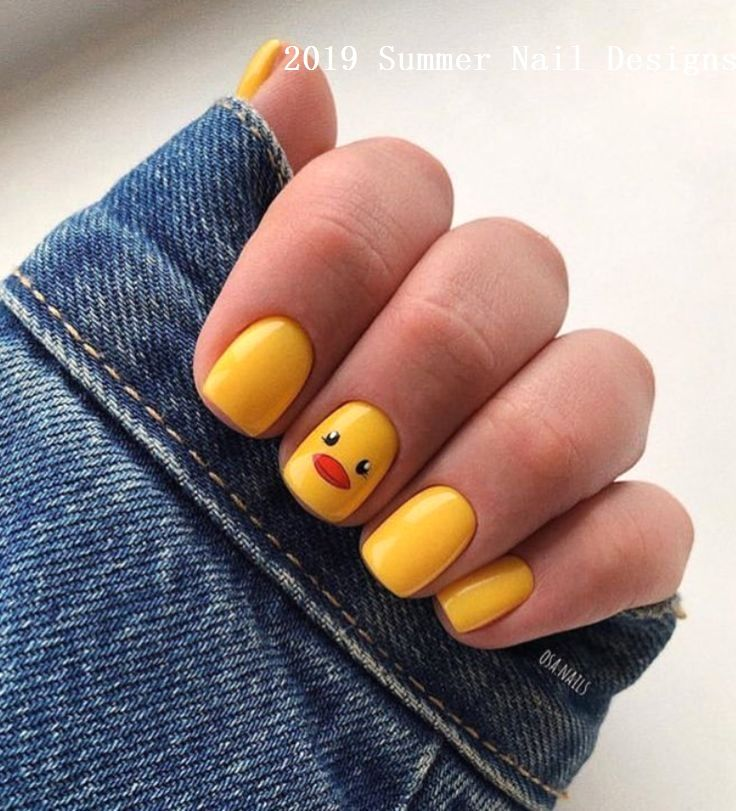 33 Cute Summer Nail Design Ideas 2019 Nailart Nail Short Square Acrylic Nails Square Acrylic Nails Short Acrylic Nails