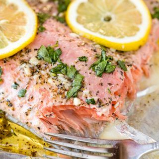 Easy Garlic Herb Baked Salmon