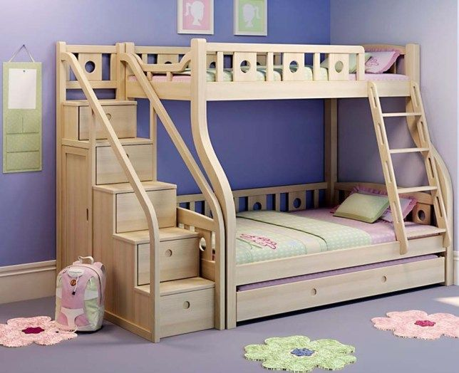 Plain Bunk Bed With Stairs Inspiration