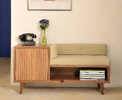 Walnut Telephone Table by Costello and Welch