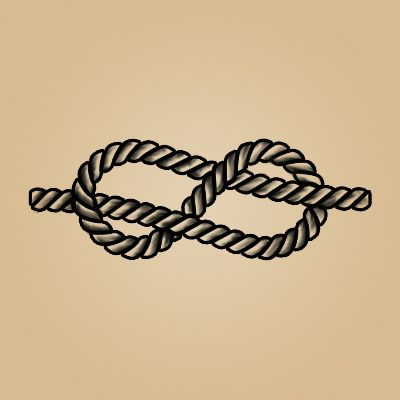 Knotted Rope Sailor Tattoo: the traditional sailor knot, also called an eight knot, was made to never be broken. It was designed to withstand the constant weathering of the sea. A perfect sentiment about the strength of love