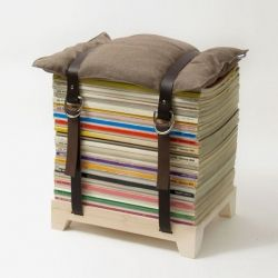 7 awesome ideas to reuse old magazines. We should make this magazine seat! super cool