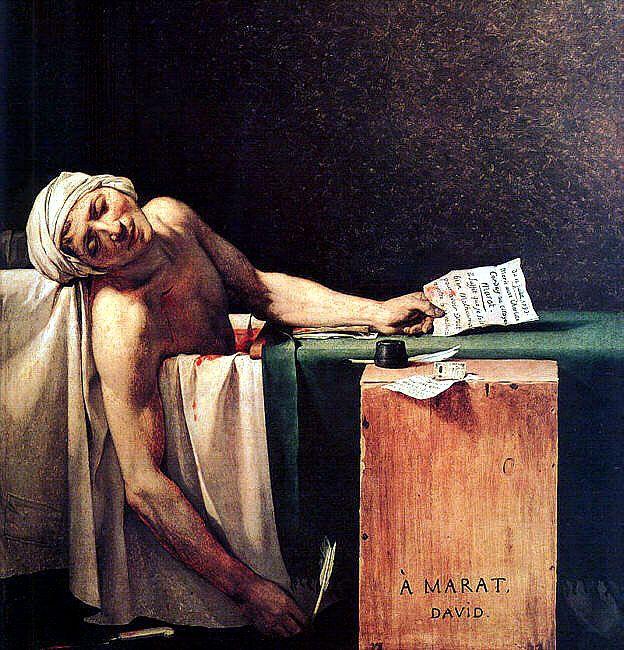 La Muerte de Marat – Pintura de Jacques Louis David (1793)
