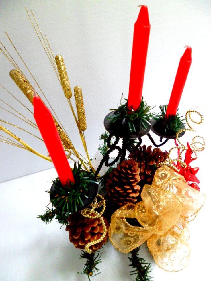 candelabros navideños