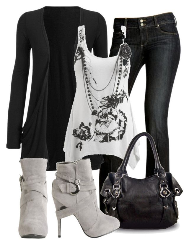 Untitled #101 by dori-tyson on Polyvore featuring polyvore fashion style Wet Seal OMG Paige Denim