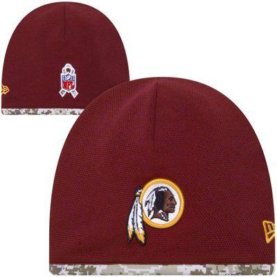 7e6b25fed24 New Era Washington Redskins Salute to Service Youth On-Field Knit Beanie -  Burgundy