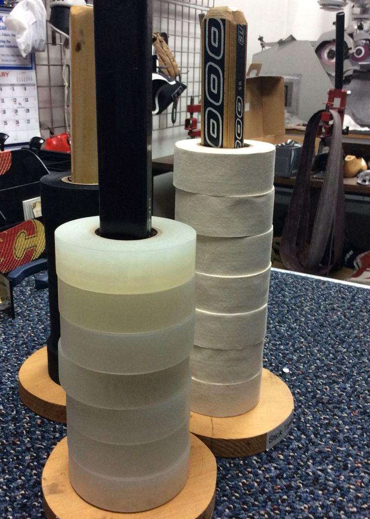 A great way to organize your hockey tape.