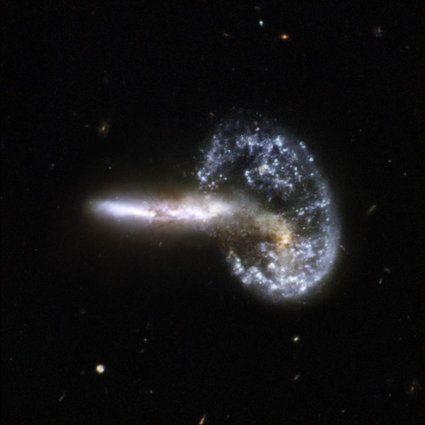 2008: Interacting Galaxy Arp 148  Credit: NASA, ESA, the Hubble Heritage (STScI/AURA)-ESA/Hubble Collaboration, and A. Evans (University of Virginia, Charlottesville/NRAO/Stony Brook University)