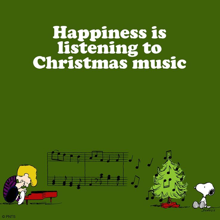 Happiness is listening to Christmas music