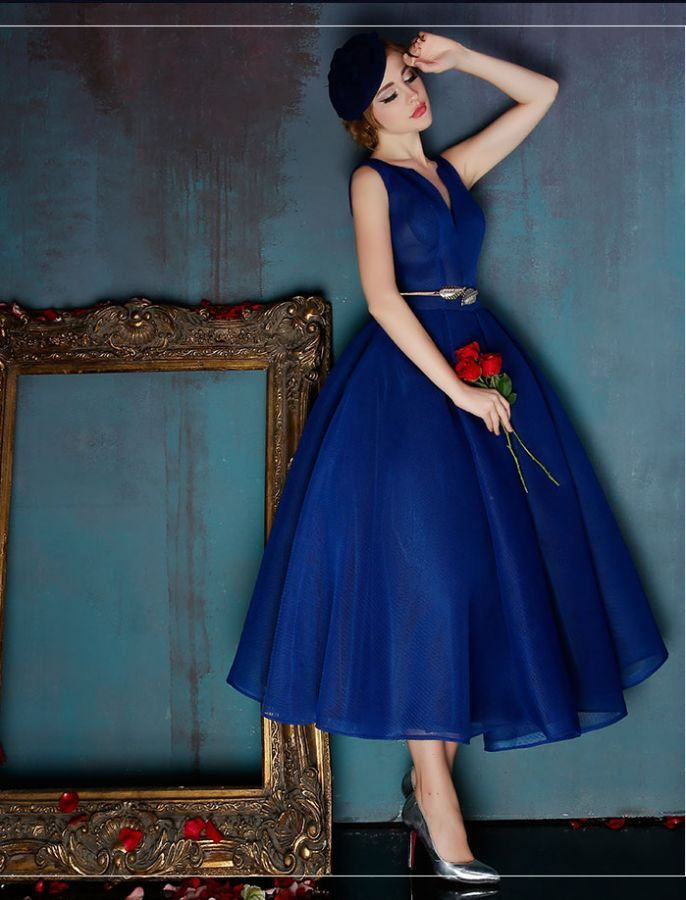 Fit and Flare Vintage Inspired Prom Dress