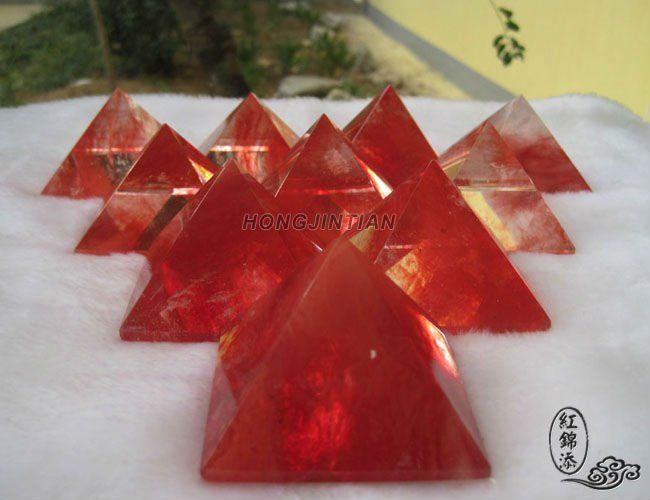Red Quartz Crystal   Red Quartz Crystal Pyramid Carving - Buy Crystal    Red Quartz Crystal