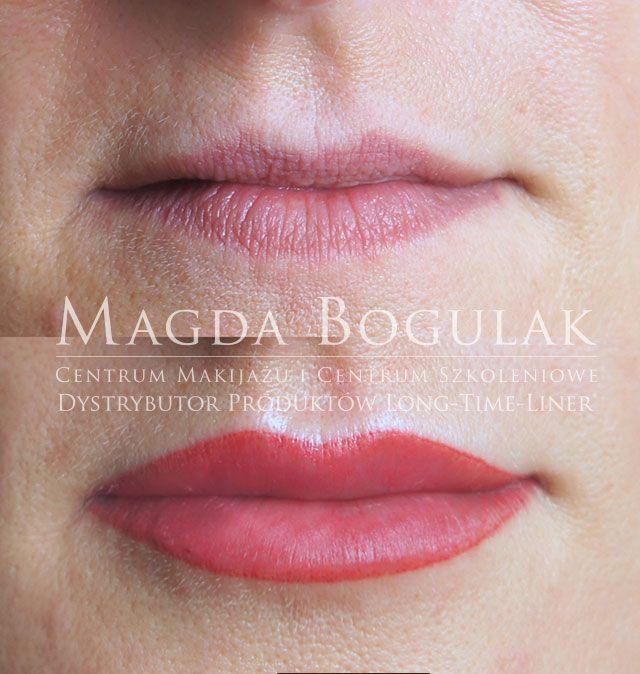Makijaż permanentny ust z wypełnieniem. Więcej o makijażu permanentnym: http://permanentnywarszawa.pl/zabiegi/makijaz-permanentny-ust/