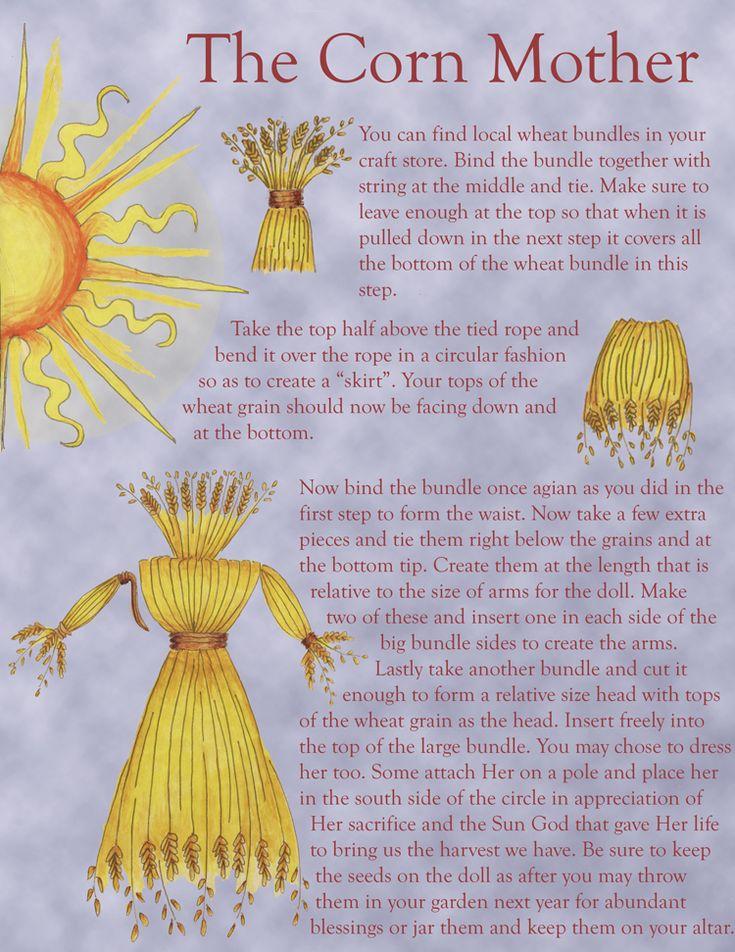 Corn doll instructions