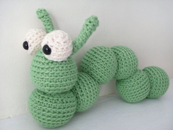 Amigurumi PATTERN: Crochet Inchworm -pdf- Crochet ...