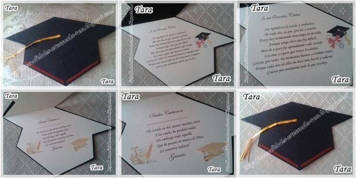 Manualidades Artesanales TARA: Tarjeta de Recuerdo de Graduación [