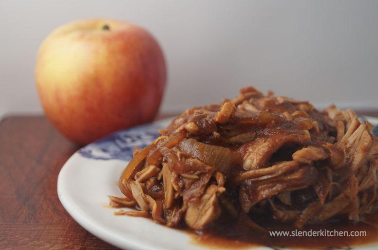 Sunday Slow Cooker: Apple BBQ Pulled Turkey | Slender Kitchen (was under freezer friendly tab)
