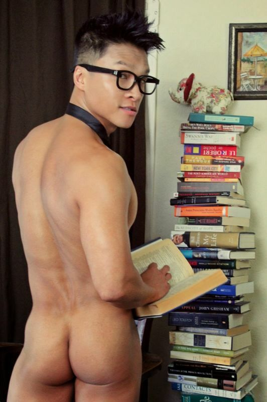 Cute geeky fit boy with a huge cock