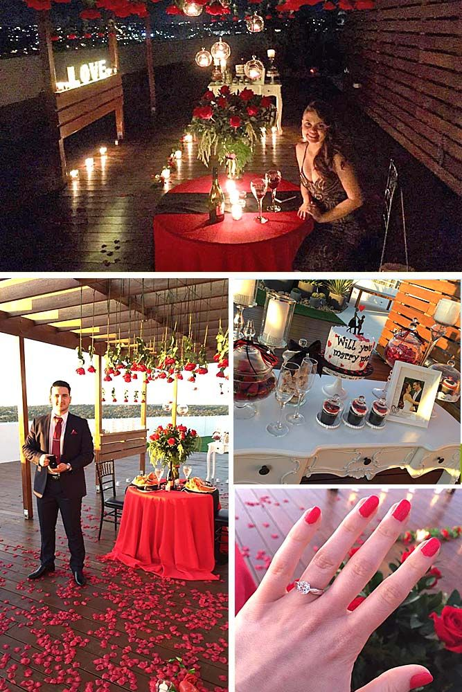 romantic proposal ideas so that she said yes on the