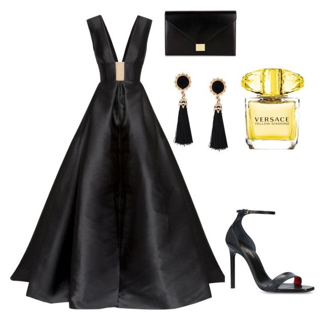 """""""Untitled #176"""" by denisapurple on Polyvore featuring Axel, Victoria Beckham, Yves Saint Laurent and Versace"""